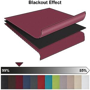 beautissu blackout vorhang amelie mit sen 140x245 cm bordeaux wein rot. Black Bedroom Furniture Sets. Home Design Ideas
