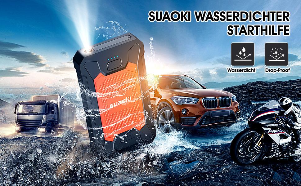 LouiseEvel215 12 V 20000 mAh Mini Tragbare Multifunktions Auto Starthilfe Power Booster Ladeger/ät Notstart Ladeger/ät