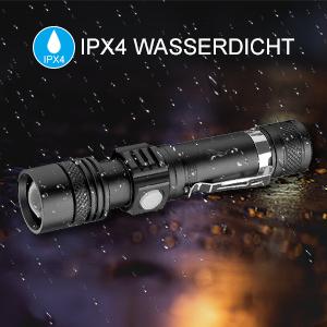 Wasserdichte USB wiederaufladbare LED Taschenlampe Lampe Tasche SchlüsselbWQZYB