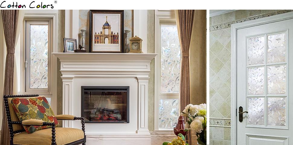 Cottoncolors fensterfolie sichtschutzfolie 3d - Fensterfolie statisch anbringen ...