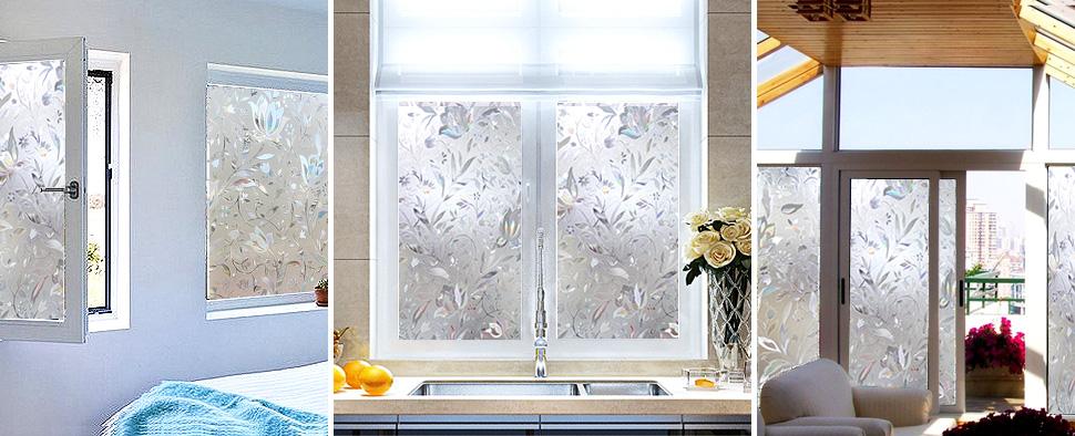 Cottoncolors fensterfolie sichtschutzfolie 3d dekofolie statisch selbstklebend anti uv - Fensterglas austauschen rahmen behalten ...