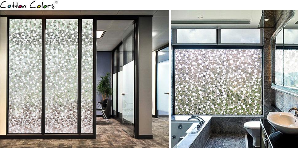 Cottoncolors fensterfolie sichtschutzfolie 3d dekofolie - Fensterfolie statisch anbringen ...