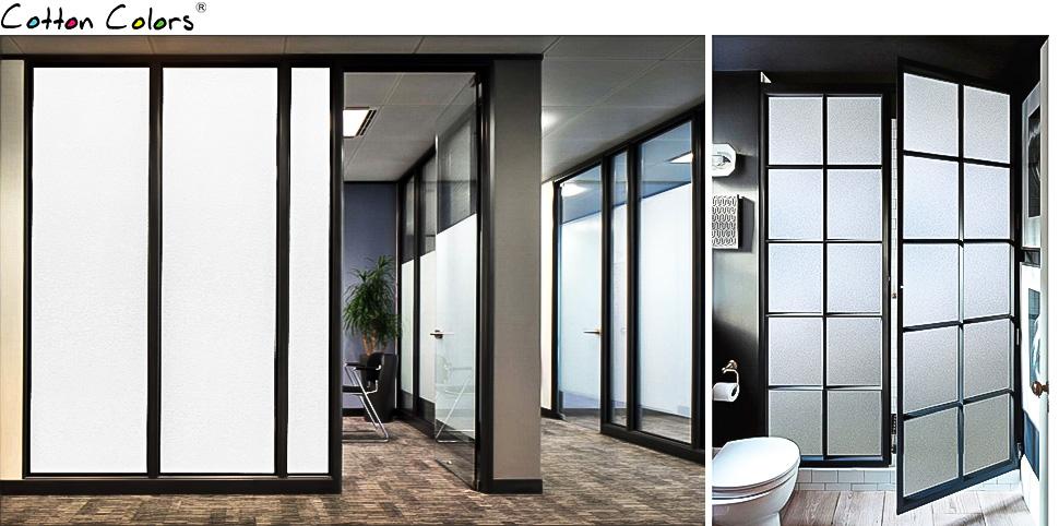 cottoncolors statische 3d fensterfolie ohne klebstoffe sichtschutzfolie milchige. Black Bedroom Furniture Sets. Home Design Ideas