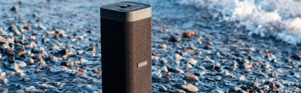 Dockin D Mate Bluetooth Speaker With Power Bank 16 Hour Battery 6 700 Mah Outdoor Water Protection 25 Watt Speaker With Stereo Mode 1 Speaker Black Mp3 Hifi