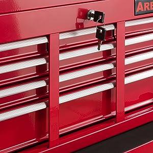 Arebos Werkstattwagen 9 Fächer