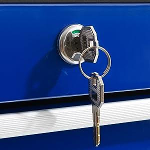 Arebos Werkzeugwagen 5 Fächer blau
