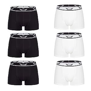 Boxershorts 3er Pack in Schwarz oder Weiss