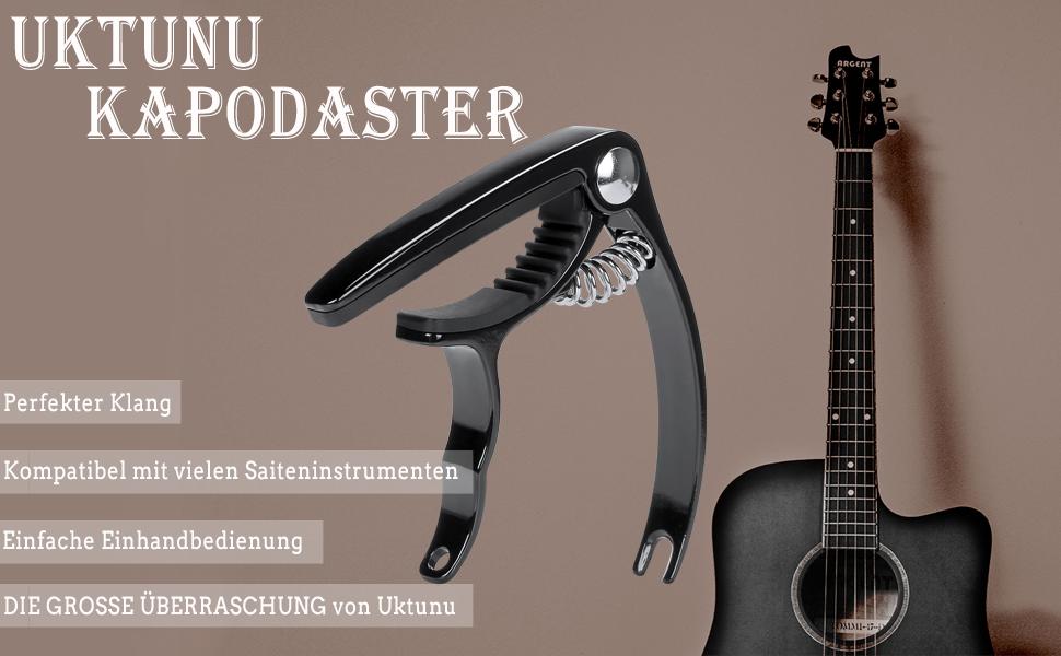 Kapodaster Capodaster Kapo Capo Elektro Akustik für Gitarre Guitar Clamp-e• Y6G2