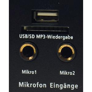 Mirofon Anschluss USB SD Karte