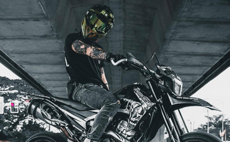 M 57-58 cm MX Motocross Helm Broken Head Squadron Rebelution camouflage grau Cross-Helm Quad-Helm Sumo-Helm