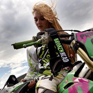Broken Head Mx Jersey Green Thunder Langarm Funktions Shirt Für Moto Cross Bmx Mountain Bike Offroad Grün Größe S Bekleidung
