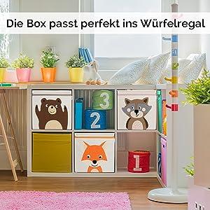 Gluckswolke Aufbewahrungsbox Kinder I Spielzeug Kiste Mit Deckel Und Griffen I Spielzeugbox 33x33x33 Zur Aufbewahrung Im Kallax Regal I Waldtiere