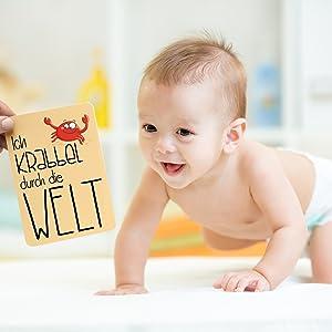 Glückswolke Meilensteinkarten Fotokarten Erinnerungskarten Babykarten