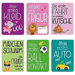 Glückswolke Meilensteine Meilensteinkarten Baby Babykarten Fotokarten Junge Mädchen