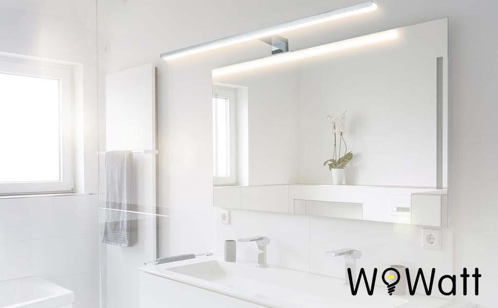 Wowatt LED Spiegelleuchte Bad Spiegellampe 60cm Badezimmer ...