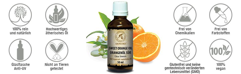 süßes ätherisches Orangenöl