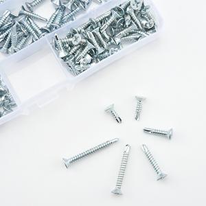 Verzinkter Stahl 110-tlg M4.8 Waferkopf Selbstschneidende schrauben Bohrschrauben Trockenbauschraube 4,8 mm x 16//19//25//32//38//50 mm