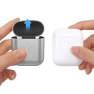 robuste und stabile H/ülle f/ür alle Apple AirPods 1 und 2 viele rot Kunststoff Case f/ür AirPods mit LED-Anzeige und kabelloser Ladefunktion
