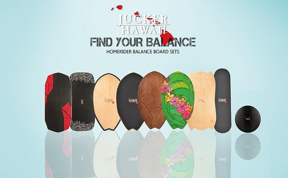 Balanceboard Rolle und Balance Kissen JUCKER HAWAII Homerider Balance Board Komplettsets 20 Verschiedene Modelle inkl
