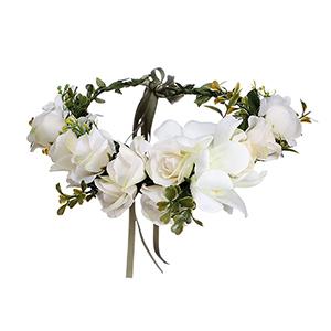 Kleine süße schaumverstellbare Blumenkrone - Elfenbein