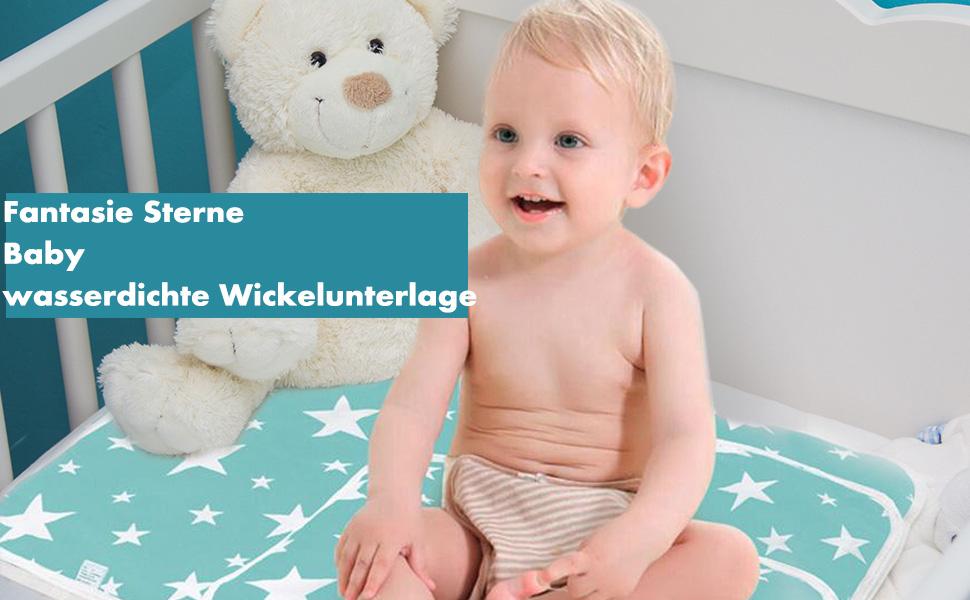 Fantasie-Stern, M 3 St/ück Matratze Pads Baby Unterlage Kleinkind wasserdichte Krippe Blatt Matratzenschoner 50 x 70 cm Baby Unterlage Wasserdicht Matratze Wickelunterlage