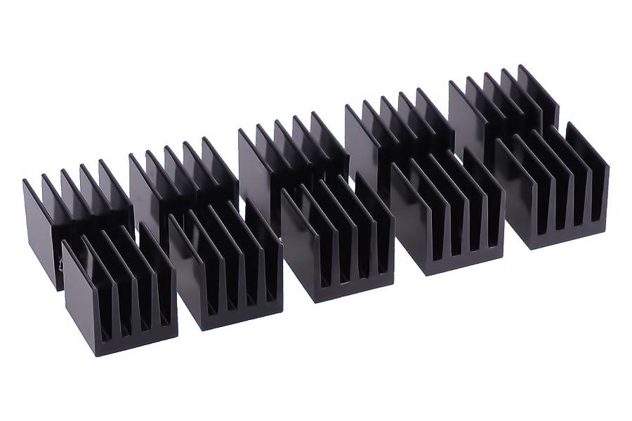 Wilk-20/Pcs Aluminium K/ühlk/örper 11/mm x 11/mm x 5/mm f/ür Memory Chipsatz