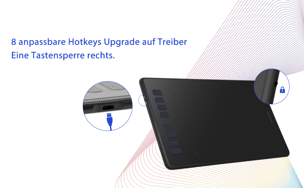 Huion Inspi Roy H950p Tilt Support Battery Free Pen Amazon De Computers Accessories