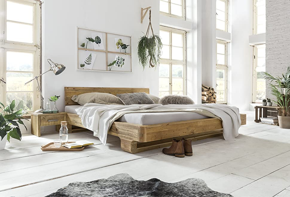 woodkings bett 180x200 mayfield doppelbett recycelte pinie schlafzimmer massivholz design. Black Bedroom Furniture Sets. Home Design Ideas