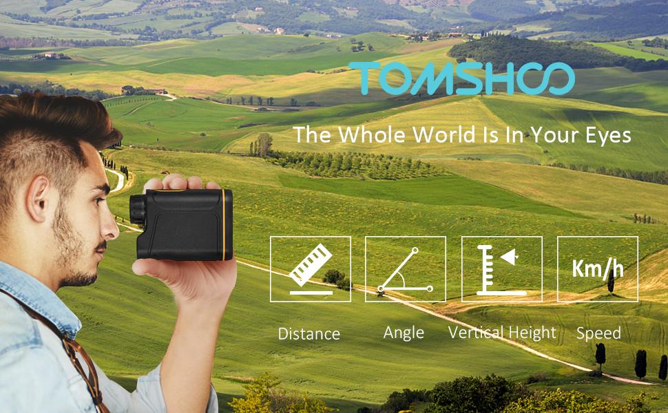 Tomshoo m golf entfernungsmesser laser golf rangefinder