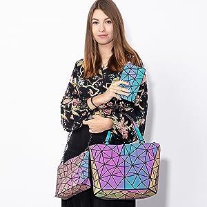 6f6b806644113 LOVEVOOK Handtasche Damen Geometrische Tasche Schultertaschen ...