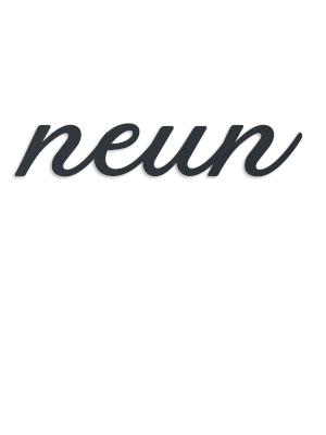 rostfrei /& robust massiver Schriftzug Zwei, Edelstahl individuelles Design Metzler Edelstahl Hausnummer als Zahlwort
