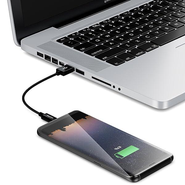 USB Typ C Kabel Schwarz K-S-Trade/® Dockinsgstation F/ür Gigaset GS195 Ladestation Dock Ladeger/ät Docking Station Inkl