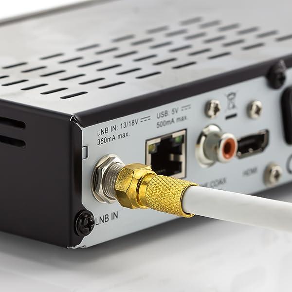 deleyCON 10x Set de Conectores F 7mm Atornillables: Amazon.es ...