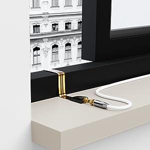 deleycon 5x fensterdurchf hrungen sat kabel 17cm elektronik. Black Bedroom Furniture Sets. Home Design Ideas