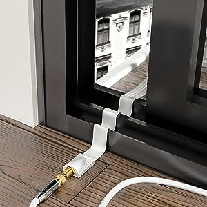 deleycon 2x fensterdurchf hrungen sat kabel 17cm elektronik. Black Bedroom Furniture Sets. Home Design Ideas