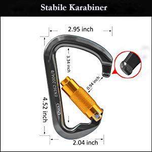 Sicherheit 25KN starker D Ring Karabiner Auto Selbstsperrhaken für