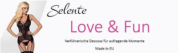 Selente Love & Fun Dessous Korsage Kosett Negligee Babydoll BH-Set Strapse Body