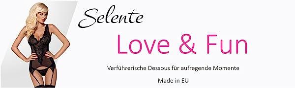 Selente Love & Fun lingerie prikkelend ondergoed korset negligé babydoll beha-set jarretels body