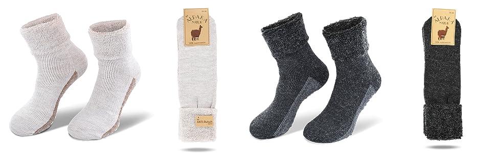 39-46 Alpaka Wolle weiche warme Socken Strümpfe für Damen /& Herren 6 Paar Gr