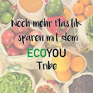 EcoYou nachhaltige Produkte leben ohne Plastik Gemüsenetze Einkaufsnetz Baumwollnetz unverpackt
