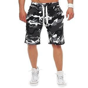 Finchman katoenen sweatshort voor heren, korte broek, bermuda, sweatpant