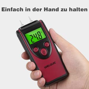 Holzfeuchtemessgerät Feuchtemessgerät Temperaturmessgerät Holz Baumaterial 3in1