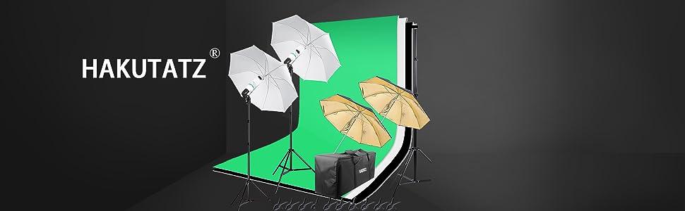 Hintergrundsystem Fotostudioschirm Fotostudio set Fotostudiobeleuchtung