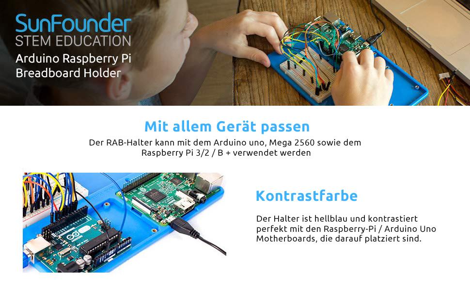 SUNFOUNDER RAB Holder Raspberry Pi UNO Breadboard  Amazon.de ... 93877ba84acd