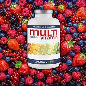 Mutivitamin Vitamine Mineralien Spurenelemente Vitamin A b Biotin Folsäure Zink Yod Calcium