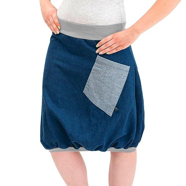 96c5e0429eb90 Ballonrock PAULIZ - blauer Damenrock aus Jeans - Ballonrock
