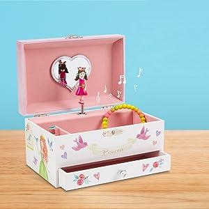 JewelKeeper Schmuckkästchen mit Spieluhren A1415