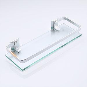 Umi A4126A von  Glasregal Wandregal Wandablage Badezimmer 8mm geh/ärtetes Glas Regal Wandhalterung Aluminium eloxiert