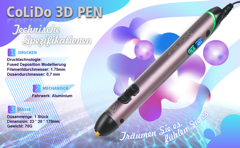 Stift 3D LT COLIDO BLAU