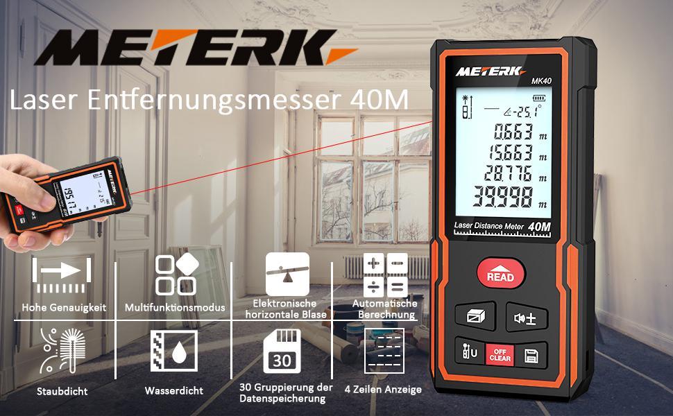 Laser entfernungsmesser meterk distanzmessgerät messbereich: 0 05